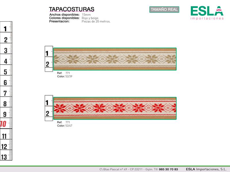 Tapacosturas con motivos de flores disponibles en dos colores.