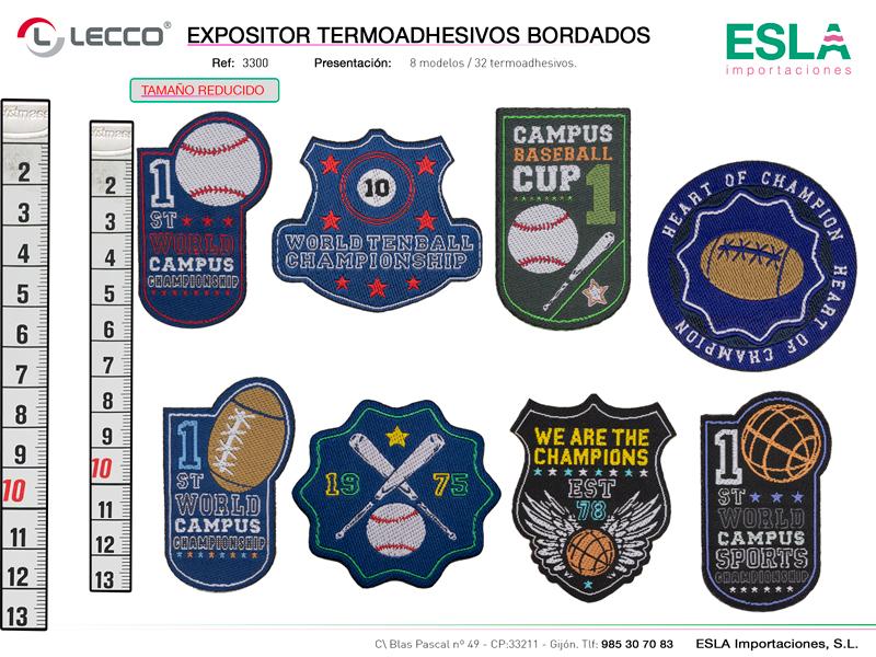 Expositor termoadhesivos bordados , LECCO, Ref 3300