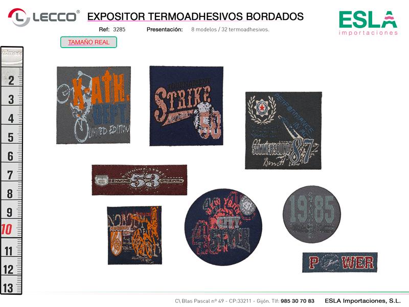 Expositor termoadesivos bordados, LECCO, Ref 3285