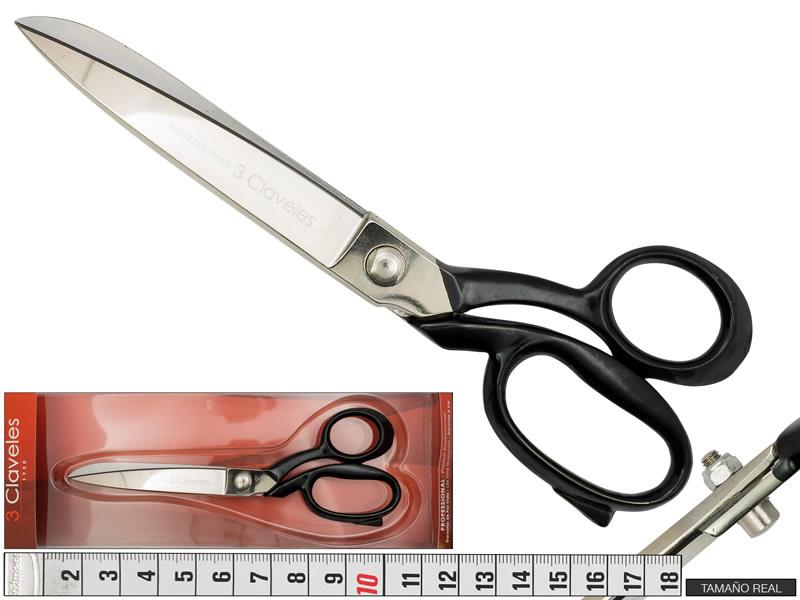 Tijera de sastre 22.5cm, 3 claveles, Ref 00092