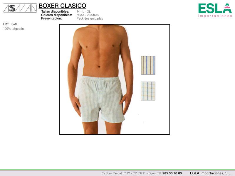 Boxer clásico, Asman, Ref 368