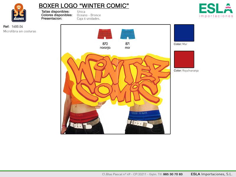 Boxer logo Winter Comic, Dusen, Ref 1600.04