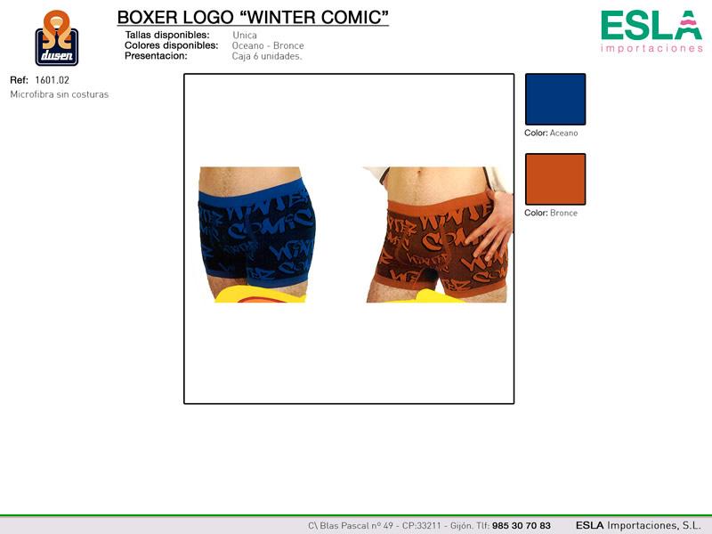 Boxer logo winter comic, Dusen, Ref 1601.02