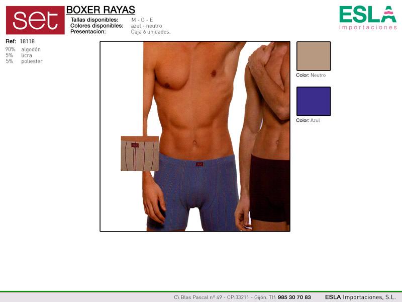 Boxer a rayas, Set, Ref 18118