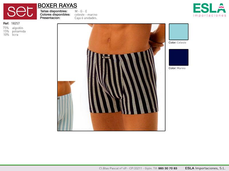 boxer a rayas, Set, Ref 18257