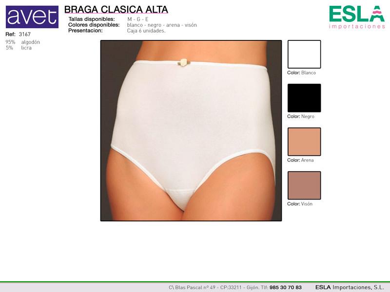 Braga clasica alta, Avet, Ref 3167