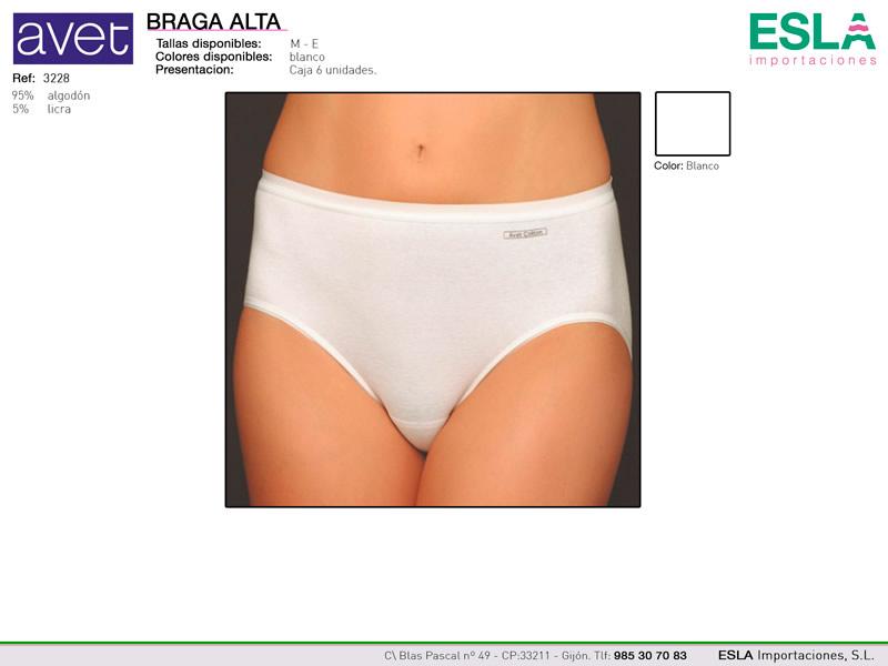 Braga alta clasica, Lisa, Blanca, Avet, Ref 3228