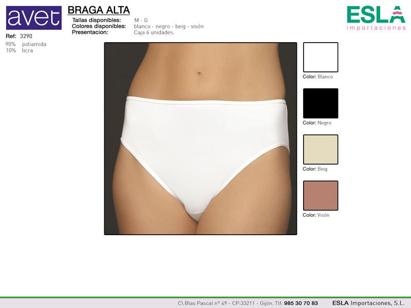 Braga alta, blanca lisa, Avet, Ref 3290