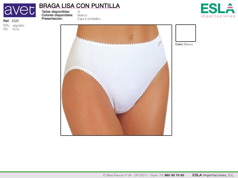 Braga lisa con puntilla, Avet, Ref 3320