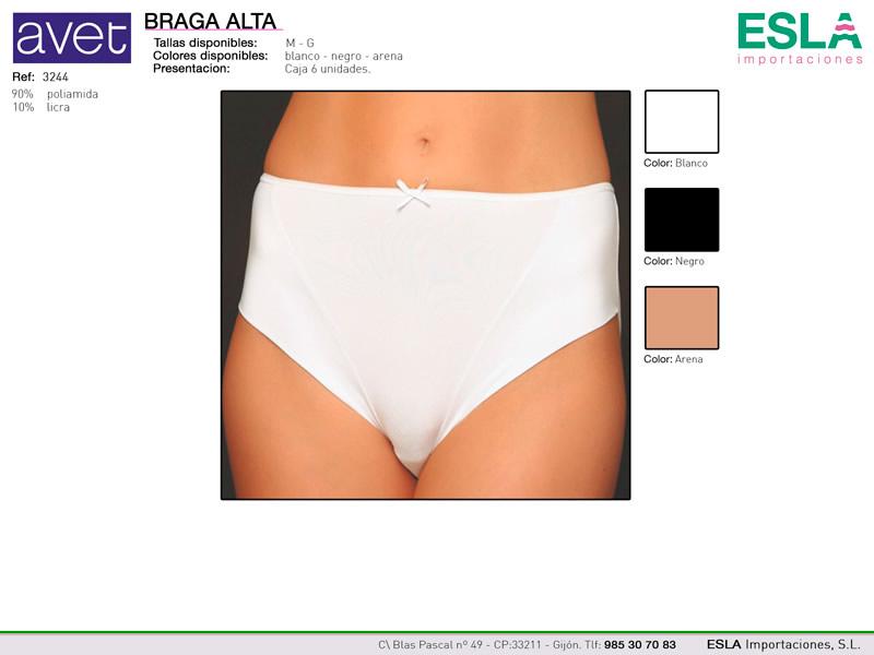 Braga alta microfibra, Avet, Ref 3244