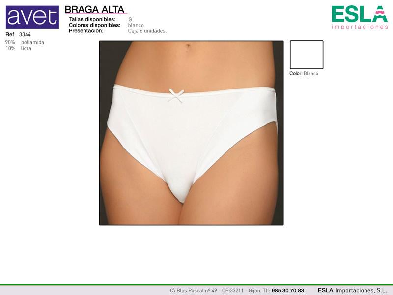 Braga alta, Blanca, Lisa, Ref 3344