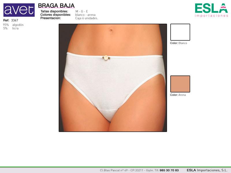Braga clasica lisa baja, Avet, Ref 3367