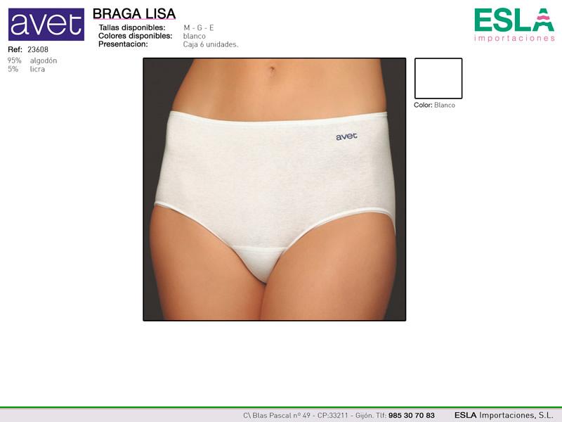 Braga lisa, blanca, Avet, Ref 23608
