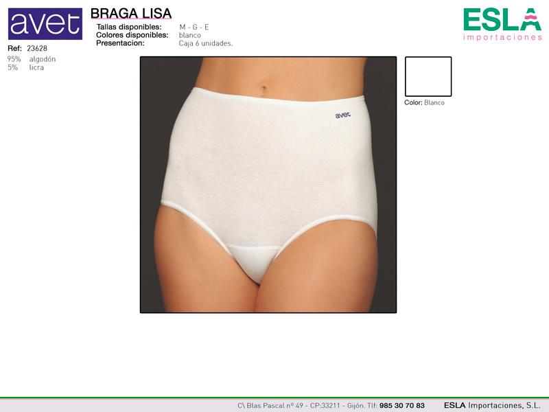 Braga lisa blanca, Avet, Ref 23628