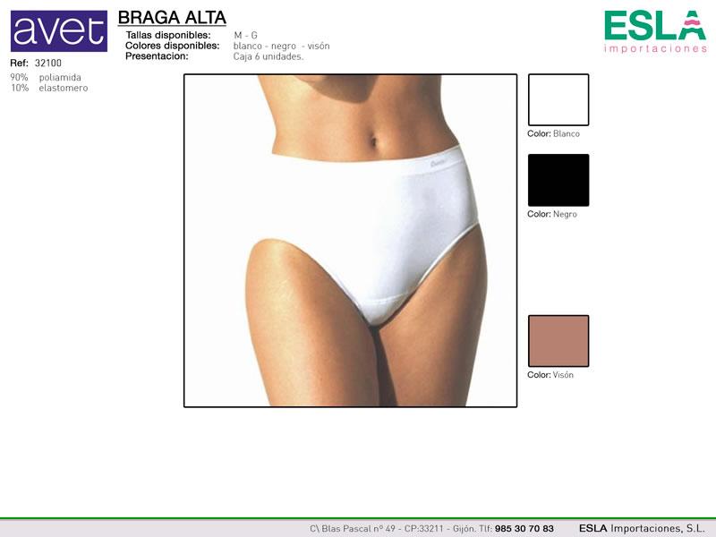 Braga alta clasica con elastico, Avet, Ref 32100