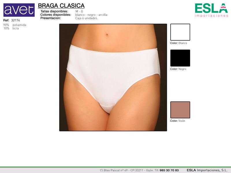 Braga clasica, Bikini, microfibra, Avet, Ref 32174