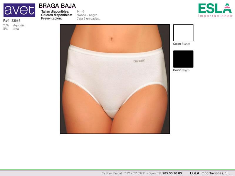 Braga clasica, baja, Avet Cotton, Ref 33069