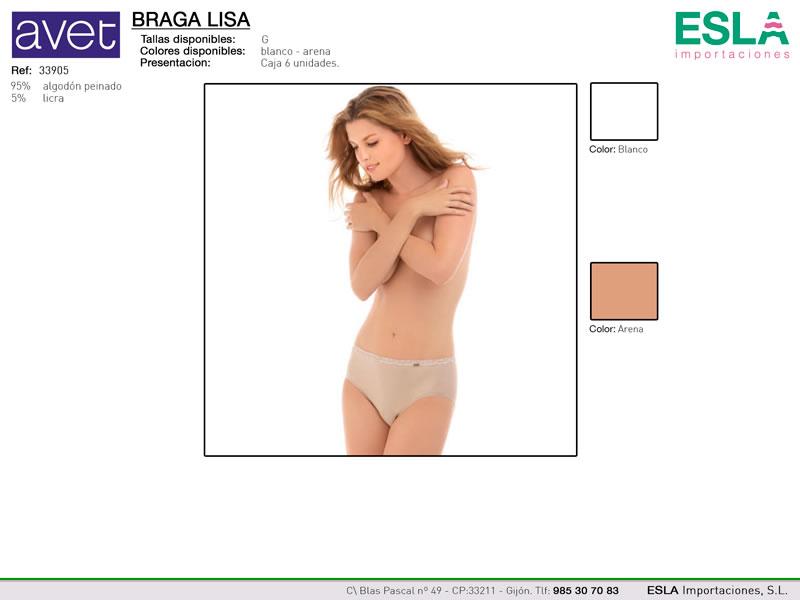 Braga bikini lisa , Cintura elástica, Avet, Ref 33905
