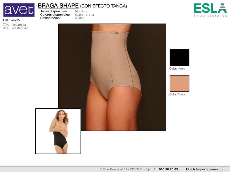 Braga shape, efecto tanga, Avet,  Ref 66275