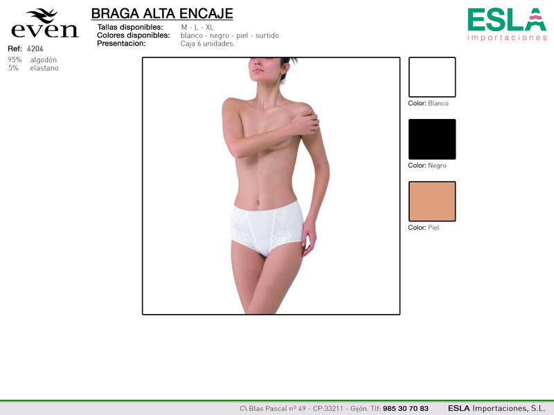 Braga alta con encaje, Even, Ref 4204