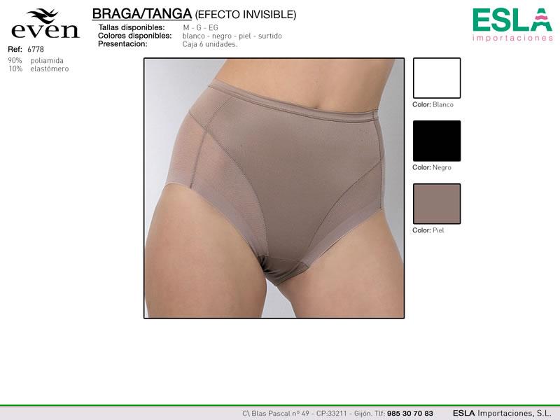 Braga sin marcas, Efecto tanga, Even, Ref 6778