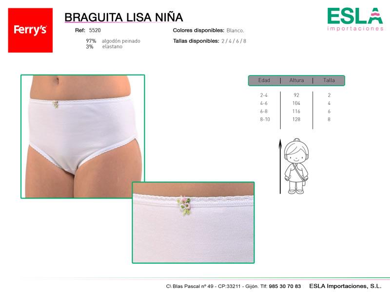 Braga infantil lisa, alta, Ferrys, Ref 5520