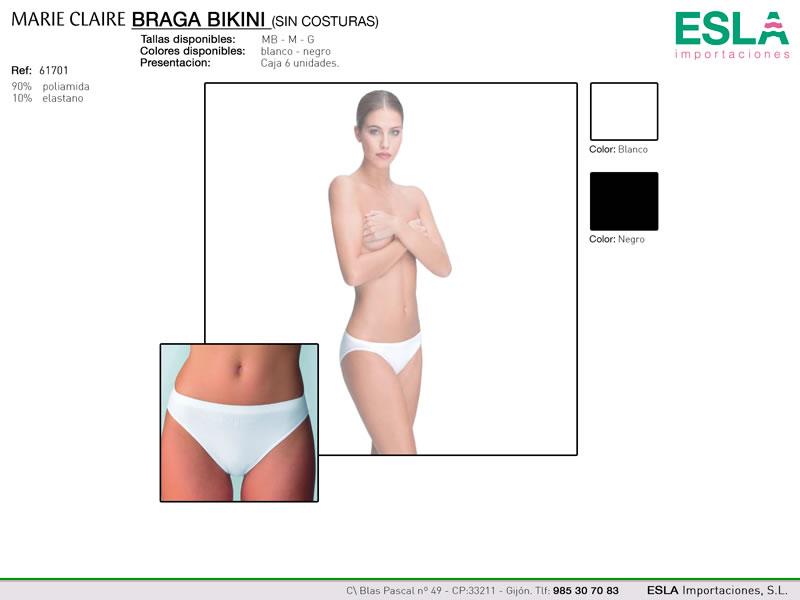 Braga bikini sin costuras, Marie claire, Ref 61701