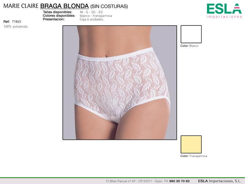 Braga Blonda, Sin costuras, Marie Claire, ref 71865