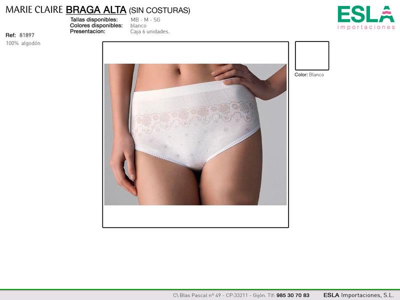 Braga alta sin costuras, Con dibujo, Marie Claire, Ref 81897