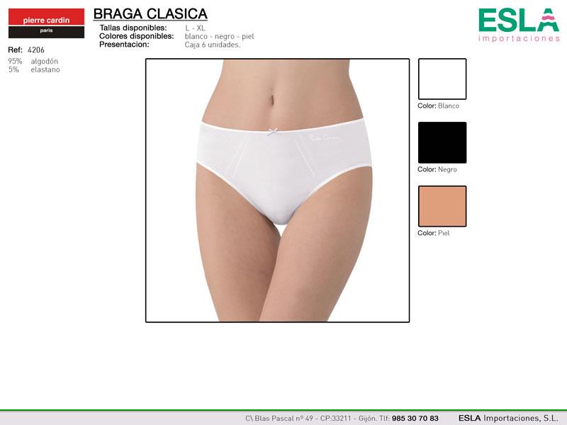 Braga clasica, Bikini, Sin costuras, Lisa, Ref 4206