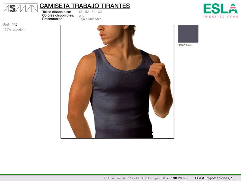 Camiseta trabajo, tirantes, Asman, Ref 154