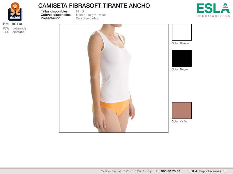 Camiseta tirantes anchos, Fibrasoft, Dusen, Ref 1031.06
