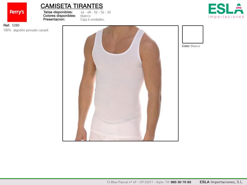 Camiseta de tirantes, cuello redondo, Ferrys, Ref 5280