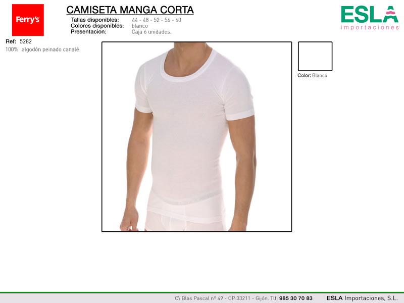 Camiseta manga corta, cuello redondo, Ferrys, Ref 5282