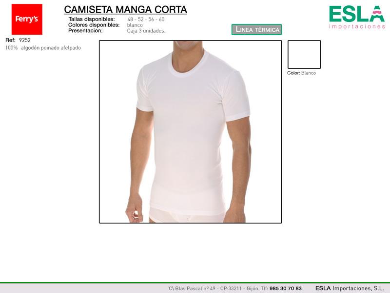 Camiseta manga corta, Linea termica, Ferrys, Ref 9252