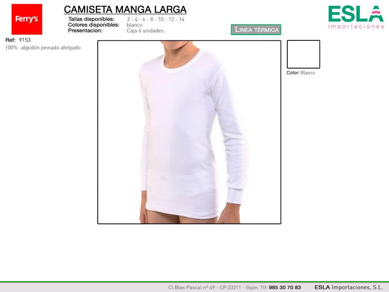Camiseta manga larga, Linea térmica, Ferrys, Ref 9253