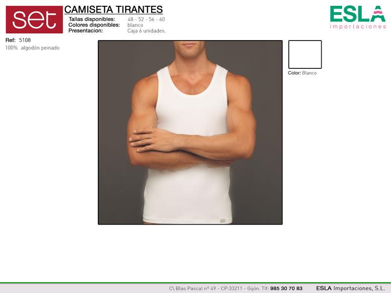 Camiseta tirante ancho de caballero, Set, Ref 5108