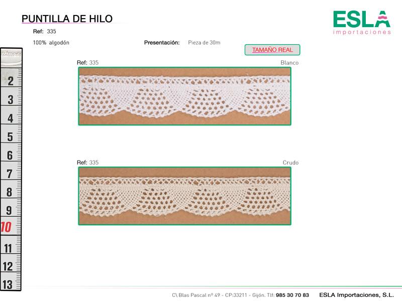 Puntilla de hilo, Familia 335, Ref 335