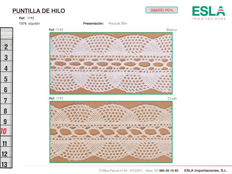 Puntilla de hilo, Familia 335, Ref 1192