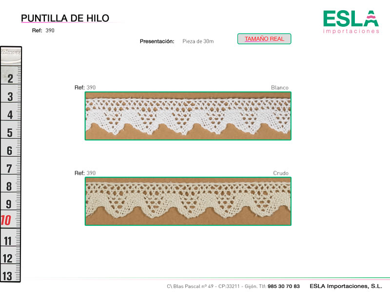 Puntilla de hilo, Familia 390, Ref 390