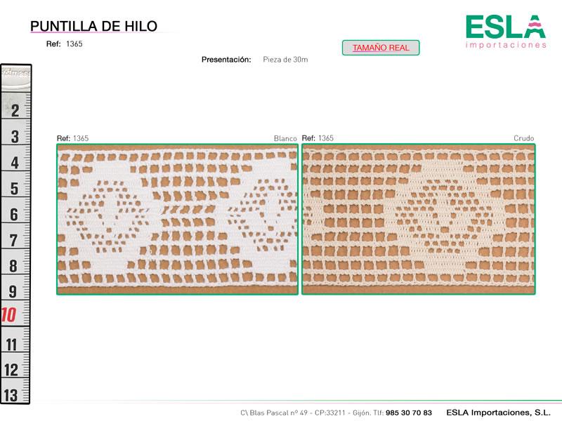 Puntilla de hilo, Familia 415, Ref 1365