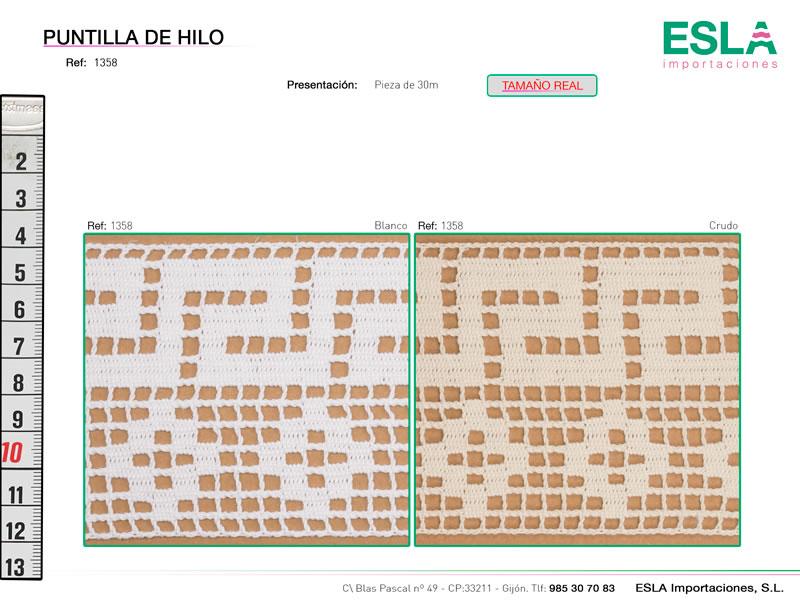 Puntilla de hilo, Familia 643, Ref 1358