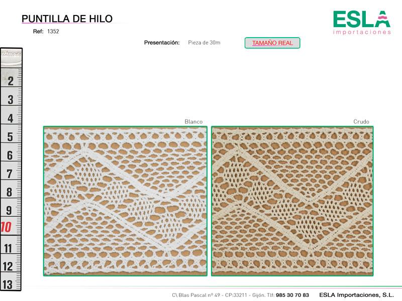 Puntilla de hilo, Familia 672, Ref 1352