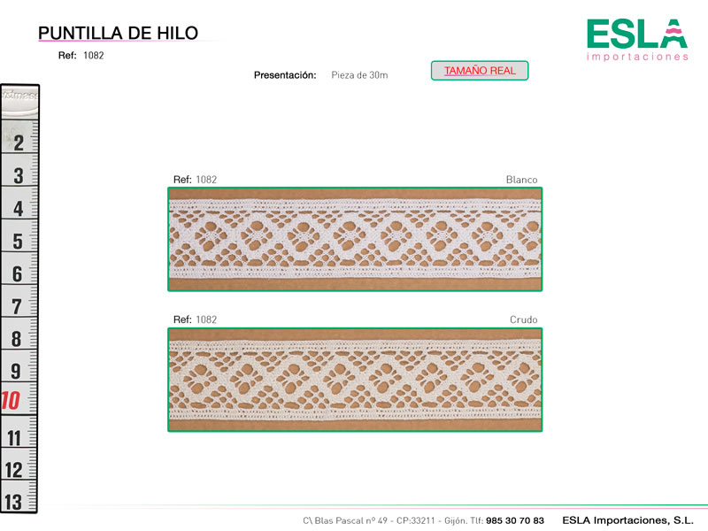 Puntilla de hilo, Familia 1081, Ref 1082