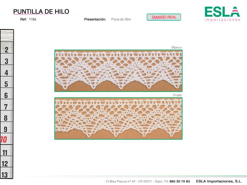 Puntilla de hilo, Familia 1186, Ref 1186