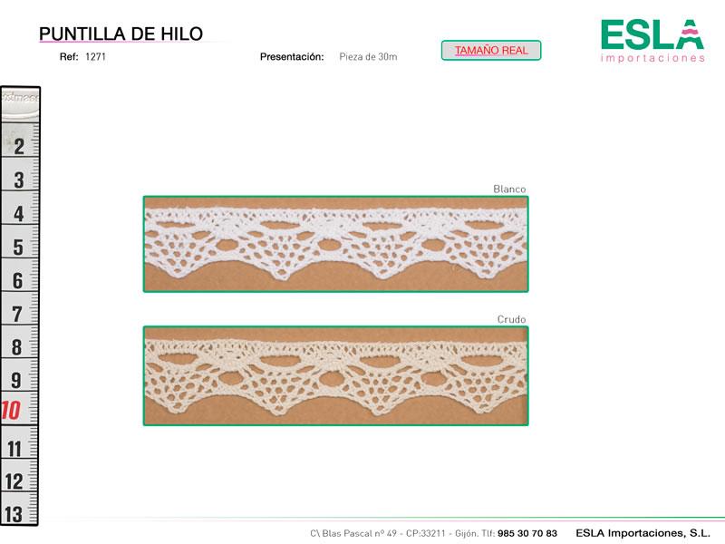 Puntilla de hilo, Familia 1271, Ref 1271