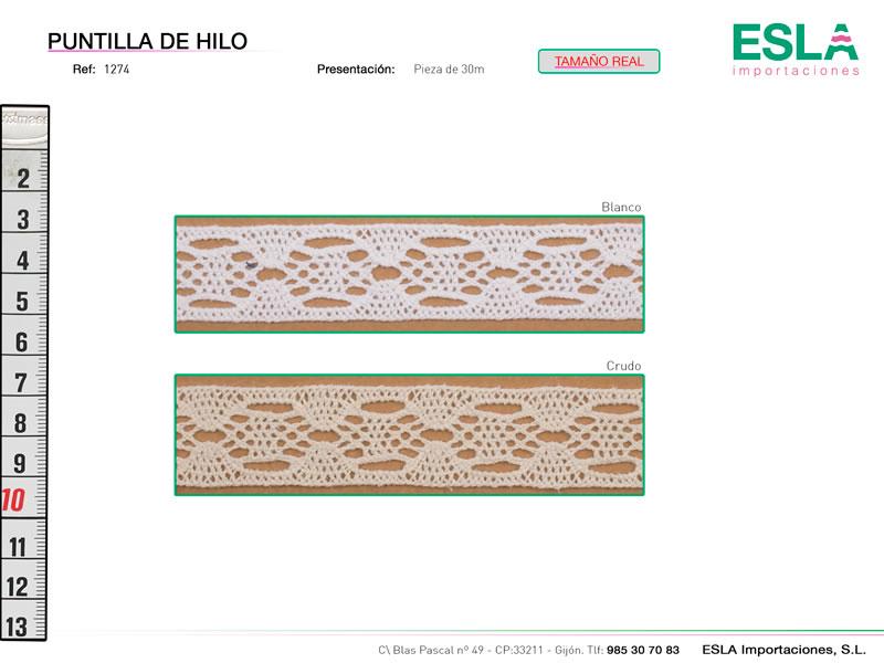 Puntilla de hilo, Familia 1271, Ref 1274