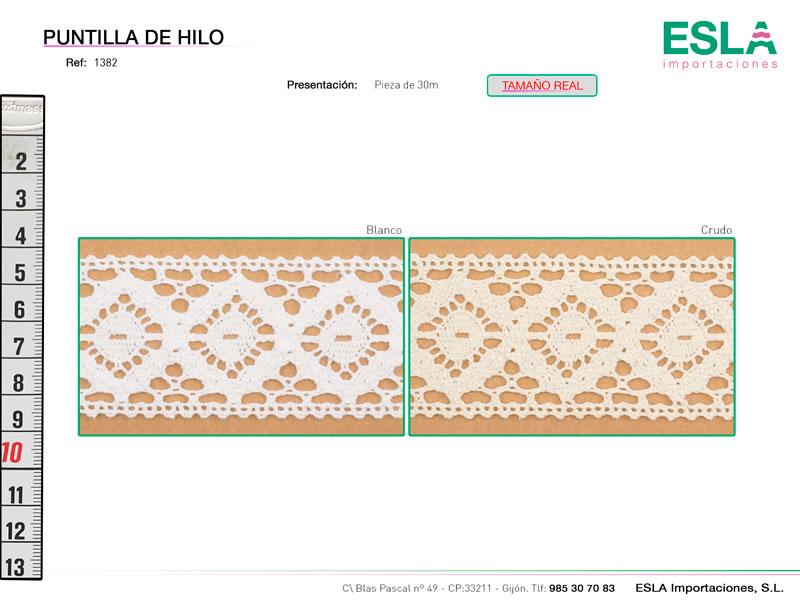 Puntilla de hilo, Familia 1382, Ref 1382