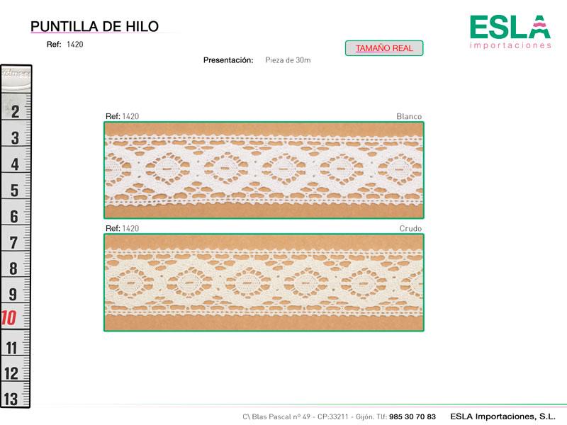 Puntilla de hilo, Familia 1382, Ref 1420