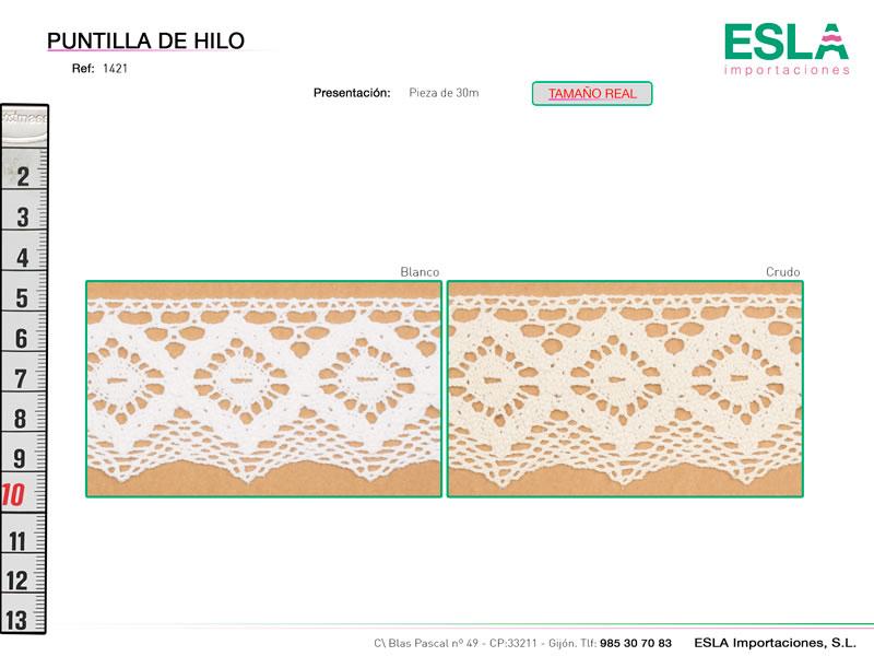 Puntilla de hilo, Familia 1382, Ref 1421